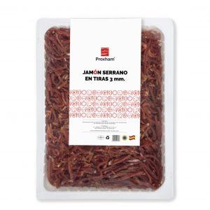 Serrano ham in strips 3 mm packed width
